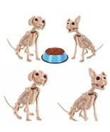 Dog Cat Skeleton Decoration Halloween Puppy Kitten Bones Skull Party Pro... - $507,21 MXN