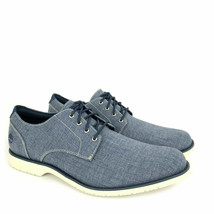 TIMBERLAND MEN'S WOODHULL DENIM CANVAS OXFORD SHOES A1XRZ - $37.09