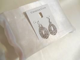 """Charter Club 1-3/4"""" Silver Tone Filigree Teardrop Fish Hook Earrings L816 $29 - $10.01"""