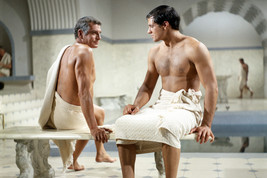 Spartacus Laurence Olivier John Gavin Bare Chested In Sauna 18x24 Poster - $23.99