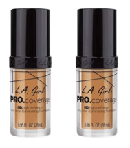 (2-Pack) L.A. Girl Pro Coverage Liquid Foundation, Nude Beige 645 - $19.99
