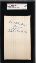 Chet Nichols 3x5 Index Card Autograph SGC Authentic P538 - $15.88