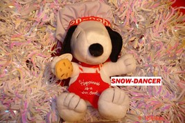 Hallmark 2011 Happiness is Snoopy Chef Plush Happiness Is A Warm Cookie ... - $29.99