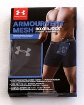 "Under Armour Black ArmourVent Mesh 6"" Boxerjock Boxer Brief Underwear Me... - $29.99"