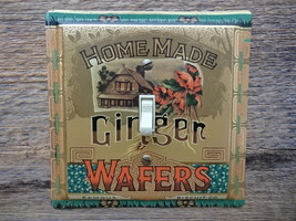 Home Made Ginger Wafers Tin Switch Plate Cover Wafer Tins Switchplate Li... - $30.00
