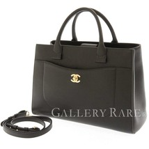 CHANEL Handbag Caviar Leather Black Neo Executive 2Way A69930 Italy Auth... - $2,683.20