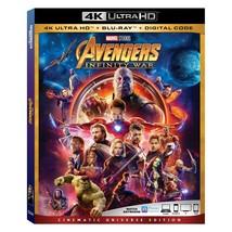 Avengers Infinity War (4K Ultra HD+Blu-ray+Digital, 2018)