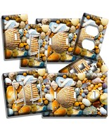 SEA SHELLS BEACH STONES LIGHT SWITCH WALL PLATE OUTLET BATHROOM SUMMER H... - $8.09+