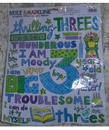 Thrilling Threes Scrapbook Stickers by Bryce and Madeline  - $2.50