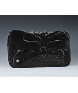 Juicy Couture Bag Quilted Velvet Bow Clutch NEW $198 - $57.42