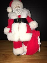 VTG Holiday Moments Porcelain Christmas Santa Claus Doll with Stand and ... - $20.27
