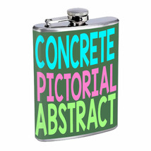 Concrete Pictorial Abstract Em1 Flask 8oz Stainless Steel Hip Drinking W... - $13.81