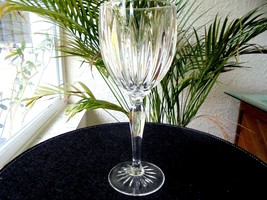 "Cris D'Arques Classic Pattern Clear Crystal Water Goblet 8 1/2"" Tall - $11.88"