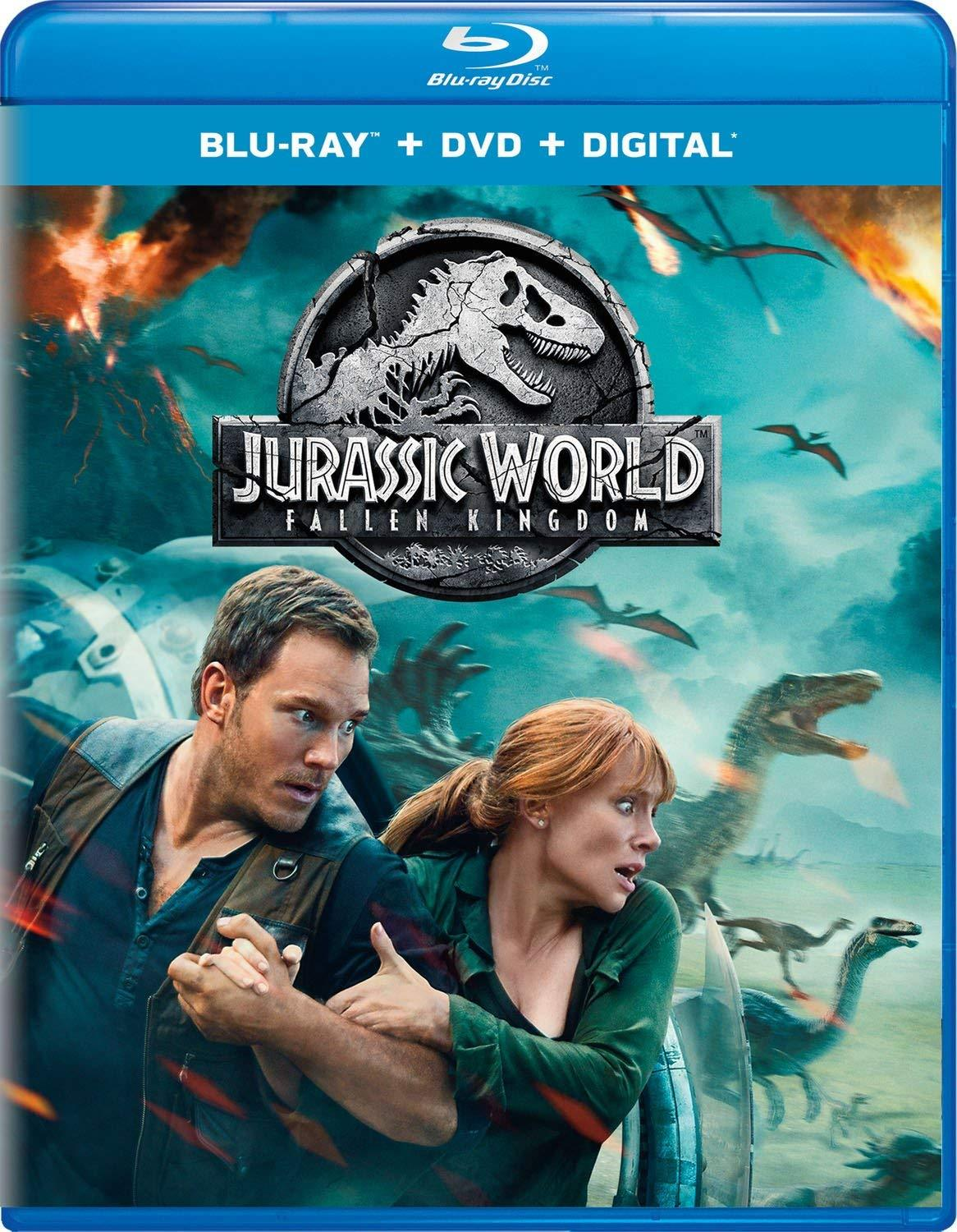 Jurassic World: Fallen Kingdom [Blu-ray + DVD + Digital]