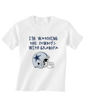 Dallas  Cowboys Tshirt T-Shirt I'm Watching With Grandpa - $15.00