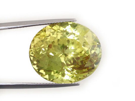 Natural Green-Yellow Color Chrysoberyl Oval-shape 41.70 carats with AGL ... - $85,887.50