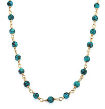 Handmade 14kt Gold-Filled Brass Necklace or Two Strand Bracelet with Tur... - $396.44