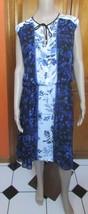 Adrianna Papell Blouson Floral Sleeveless Chiffon Dress NWT Sz L MSRP $120 - $34.79