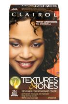 Clairol Textures & Tones 2N Dark Brown Permanent Moisture-Rich Haircolor, 1 kit - $9.49