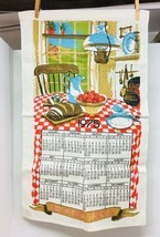 Vintage Never Used Linen Kitchen Towel 1975 Bountiful Table 27 x 16 1/4 ... - $16.34
