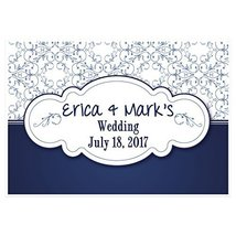 Blue Ornamental Wedding Personalized Party Banner Decoration - €35,32 EUR