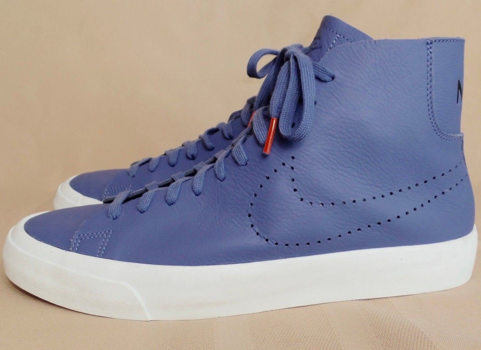 4e0c3884150 NEW Nike Mens Blazer Studio Italian Leather Blue Moon White 880870-400  Sneakers