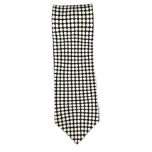 Kenneth Cole Reaction Neck Tie Black and White Dots Classic 100% Silk 59... - $16.13