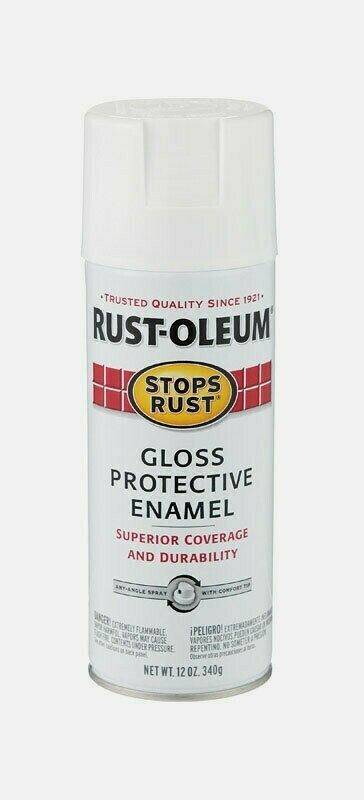 Primary image for Rust-Oleum Stops Rust WHITE 12 oz. Spray GLOSS Protective Enamel 7792-830 NEW