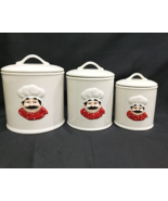 """Ceramic 3 Piece """"Chef"""" Canister Set with Seal - $54.44"""