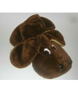 "14"" VINTAGE SUPERIOR TOY & NOVELTY BROWN FLAT PUPPY DOG STUFFED ANIMAL P... - $22.21"