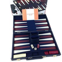 1998 Cardinal Backgammon Premier Edition Leatherette Case No. 137 - Complete - $15.19
