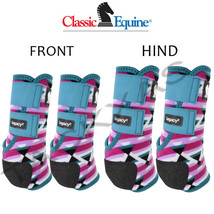 Classic Equine Legacy2 Front Hind 4 Pack Horse Boots Neoprene Fiesta U-202F - $177.98