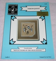 Vision Quest Cross Stitch Pattern Southwestern Buffalo - $7.00