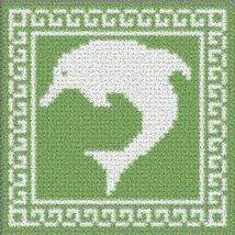 Latch Hook Rug Pattern Chart: Dolphin Pt - EMAIL2u - $5.50