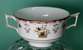 Wedgwood Bianca Footed Cream Soup Bouillon Cup 2-Handled R4499 Bone China - $15.00
