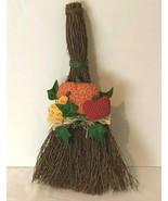Halloween Fall Autumn Thanksgiving Decor Broom and Cloth Decoration Wall... - $9.99