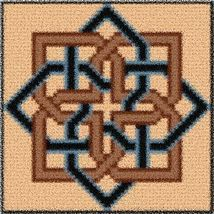 Latch Hook Rug Pattern Chart: Octagon Knot Pt - EMAIL2u - $5.50