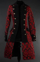 NWT Women's Red Black Brocade Victorian Goth Vampire Pirate Jacket Reg$190 - $119.99