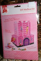 Build Your Own Valentines Day Card Pink Princess Castle Mailbox DIY Pape... - $3.95