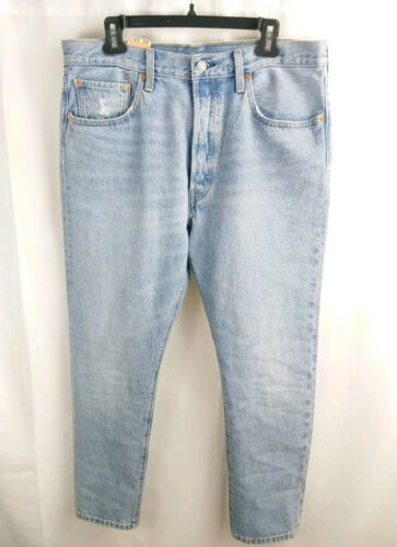 Primary image for Men Levi's 501 Short  Blue Stuffed Up Stretch Straight Leg Button Fly size 32
