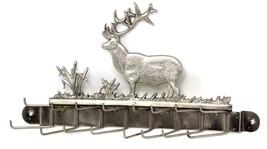"Vintage Metal Deer Elk Buck Decorative Tie Rack Belt Holder Wall Mount 11""W  6""H - $49.99"