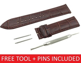 For TISSOT Watch Dark Brown Leather Strap Band Clasp/Buckle 18 19 20 21 ... - $14.90