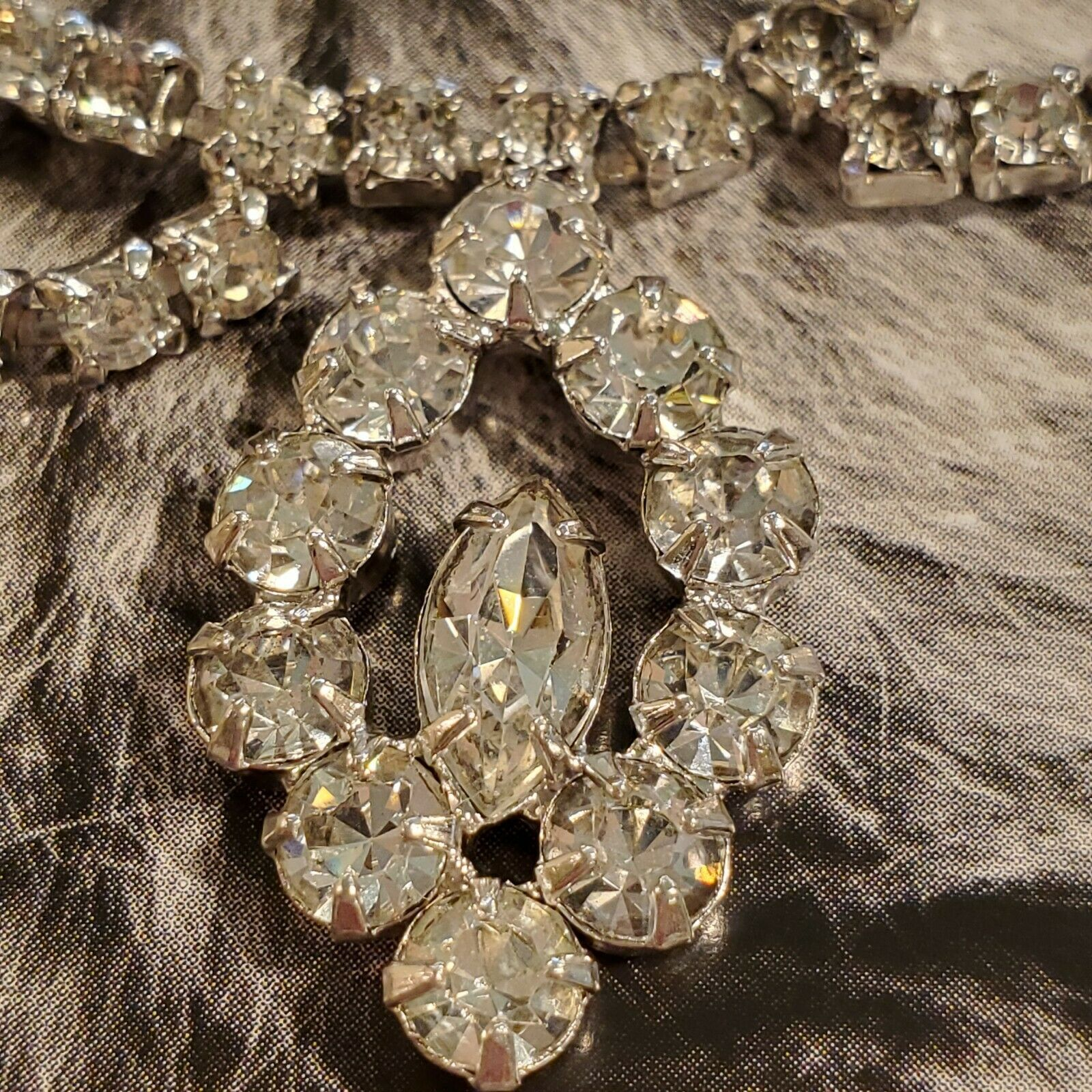 Vintage Rhinestone  Necklace set