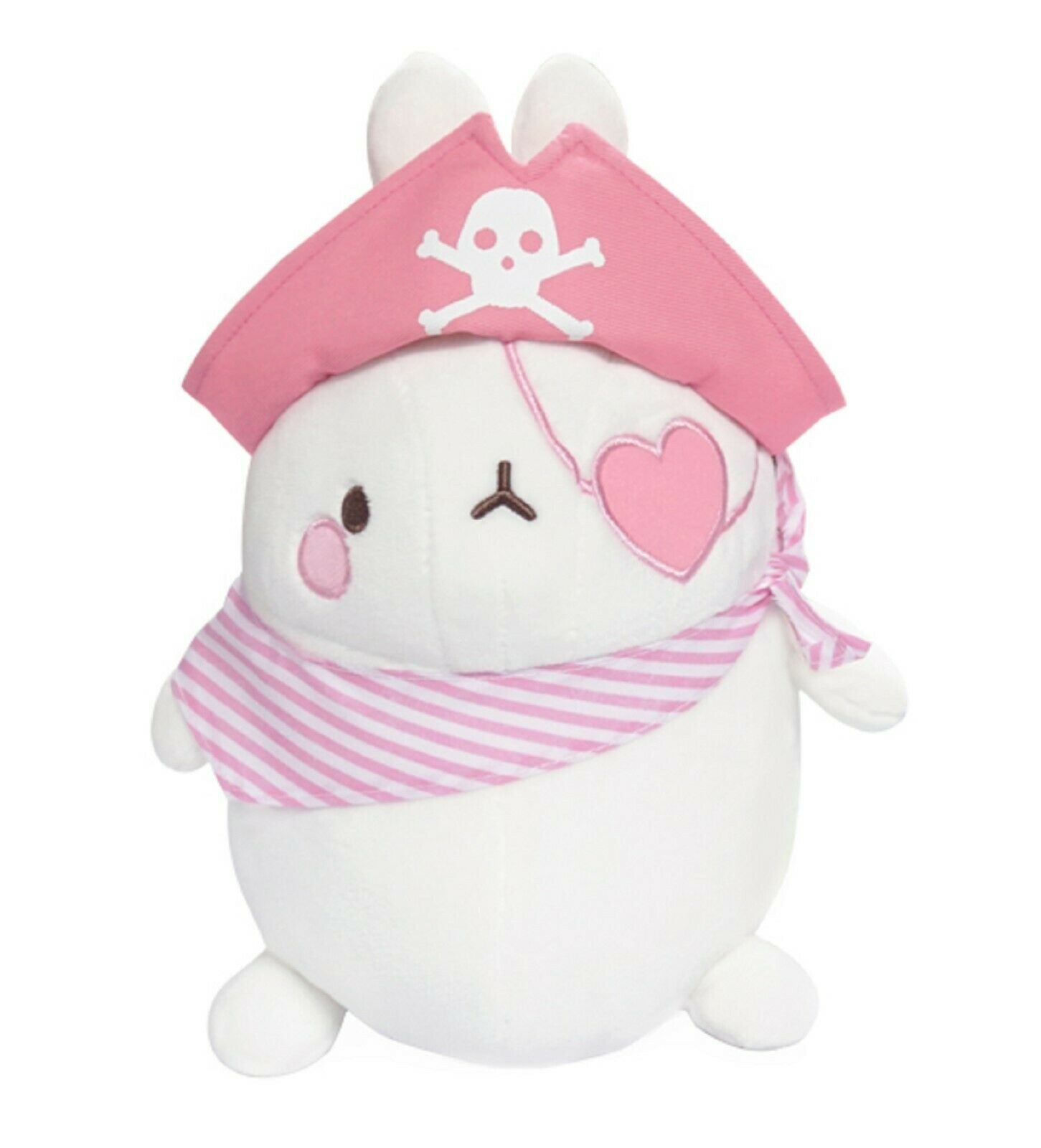 Molang Pirate Stuffed Animal Rabbit Plush Toy 8.6 inches 22cm (Pink)