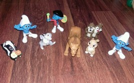 Toy mixed lot Disney Pixar Smurfs 8 piece lot - $9.90