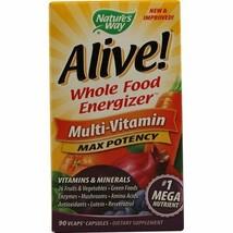 Nature's Way Alive! Multi-Vitamin Capsules, Vegetarian, 90 Ct - $17.27