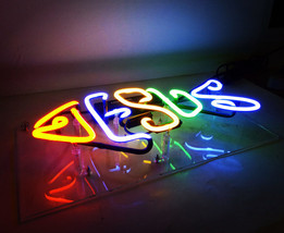 "Handmade 'Jesus' Wedding Beautiful Banner Art Light Neon Sign 12""x5"" - $59.00"