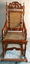 Rocking Chair Handmade Indonesia Antique Vintage UNIQUE ART Wicker and Cane - €1.308,85 EUR