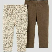 Just One You by Carter's Baby Boys' 2pk Fox Pants Brown Size Newborn NWT - $8.36