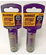 """Dewalt DW2289 11/16"""" Impact Ready 6 Point Deep Socket 3/8"""" Drive 2PCS - $3.96"""